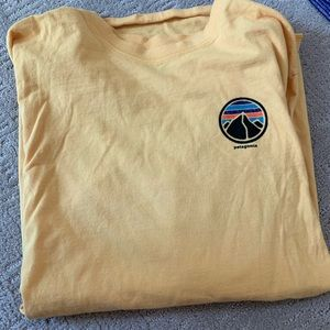 Patagonia Yellow Long-sleeve T-shirt